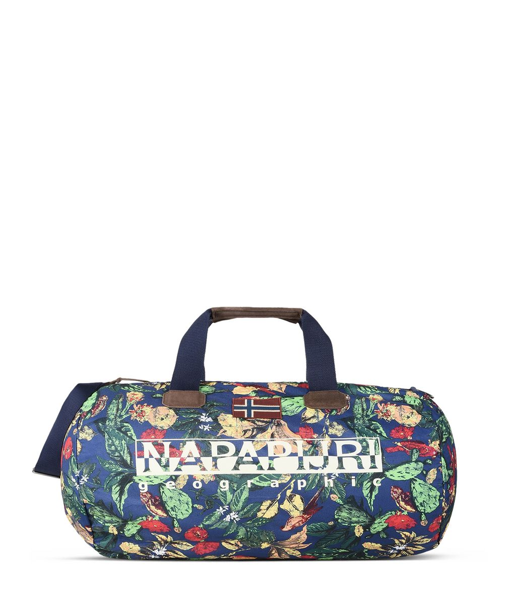NAPAPIJRI BERING PRINT  TRAVEL BAG,BLUE