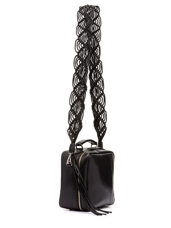 black lily fringe bag