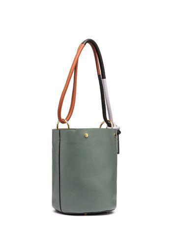 Bucket Bag In Green Calfskin