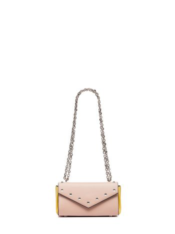 Marni TRIANGLE bag in leather pink Woman