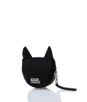 KARL LAGERFELD K/KUILTED CAT COIN PURSE