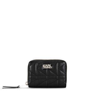 KARL LAGERFELD K/KUILTED SMALL ZIP WALLET