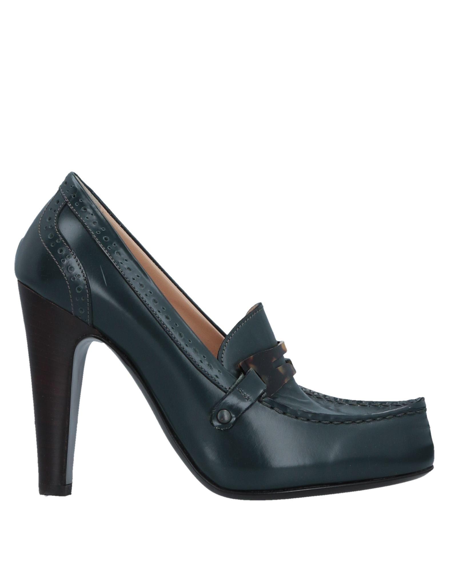 GAIA D'ESTE Loafers in Deep Jade