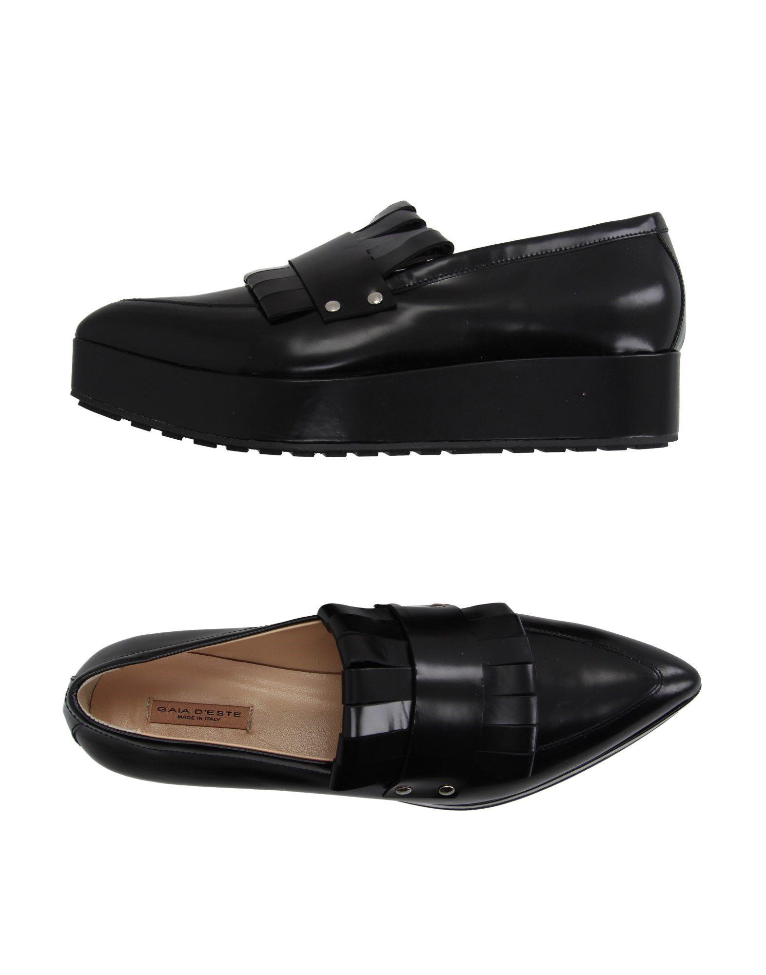 GAIA D'ESTE Loafers in Black