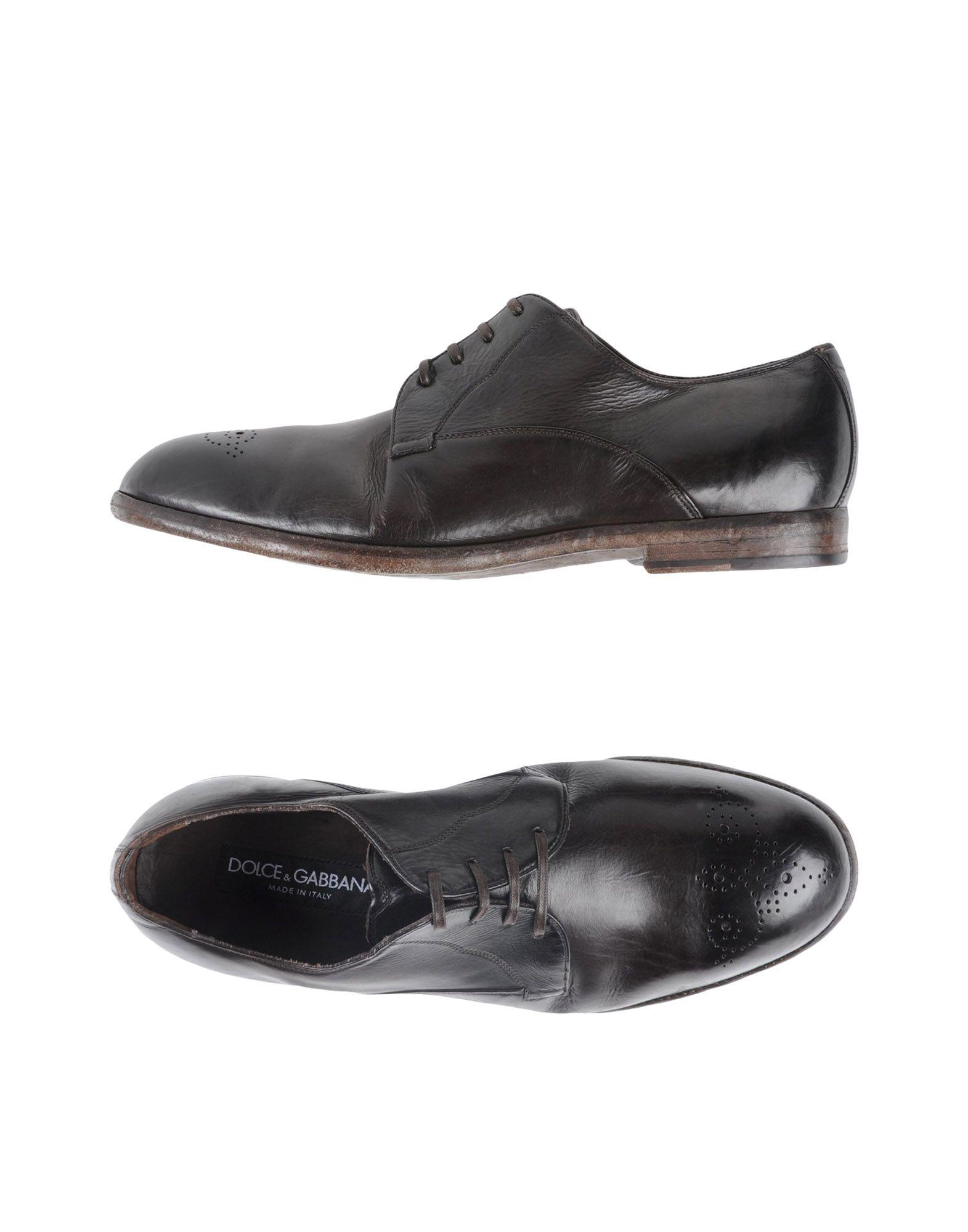 DOLCE & GABBANA Обувь на шнурках одежда из кожи dolce gabbana g9z03l fult6 dolce