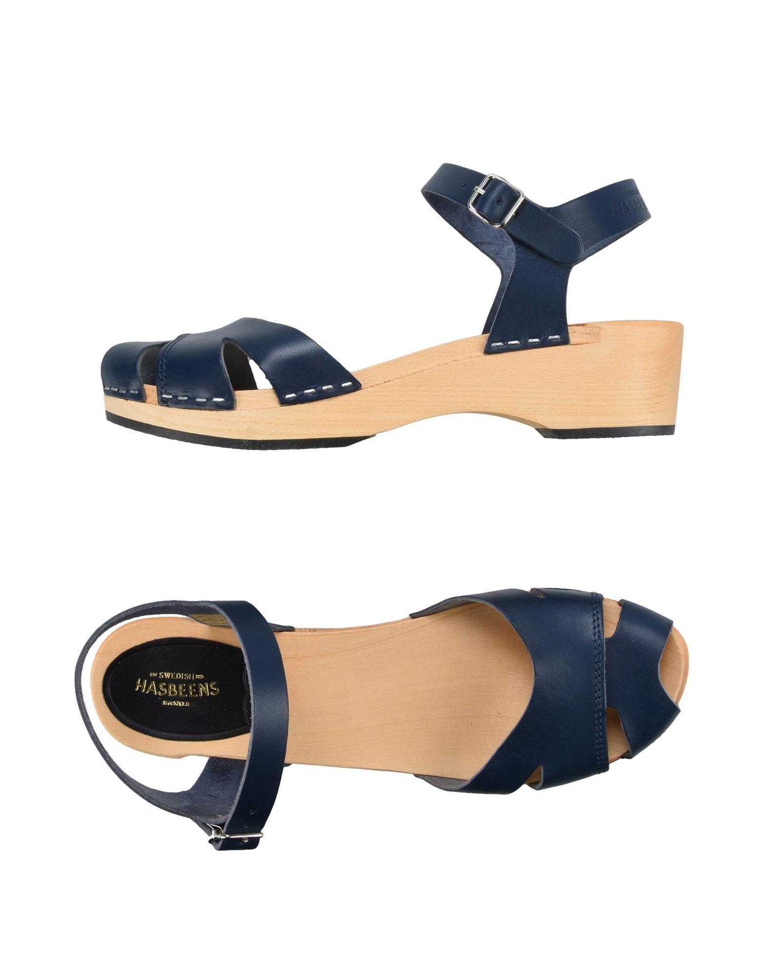 SWEDISH HASBEENS Sandals in Dark Blue