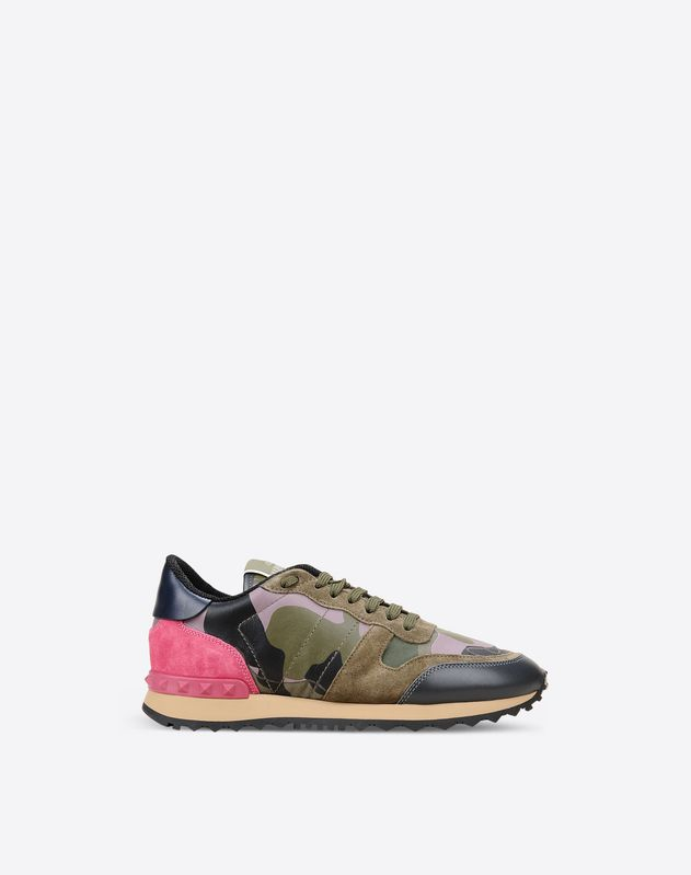 766602e6bbc74 Camouflage Rockrunner Sneaker for Woman   Valentino Online Boutique
