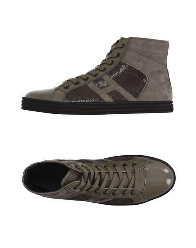 Фото - Высокие кеды и кроссовки от HOGAN REBEL серого цвета