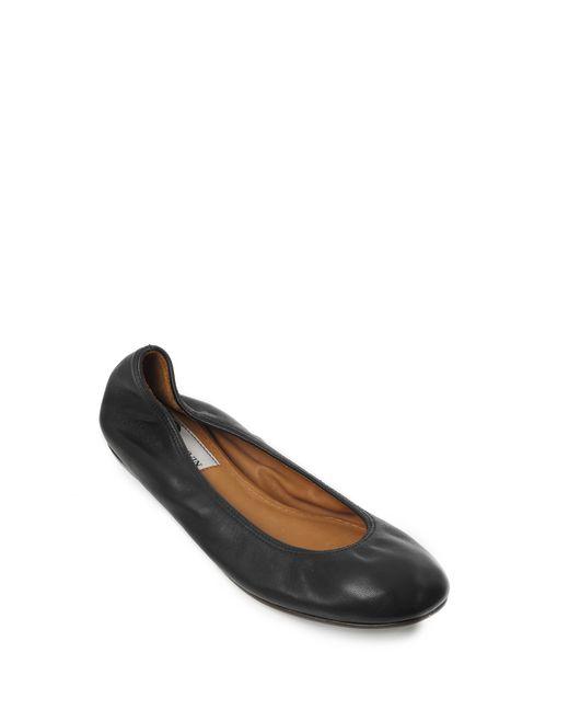 lanvin classic black ballet pump women