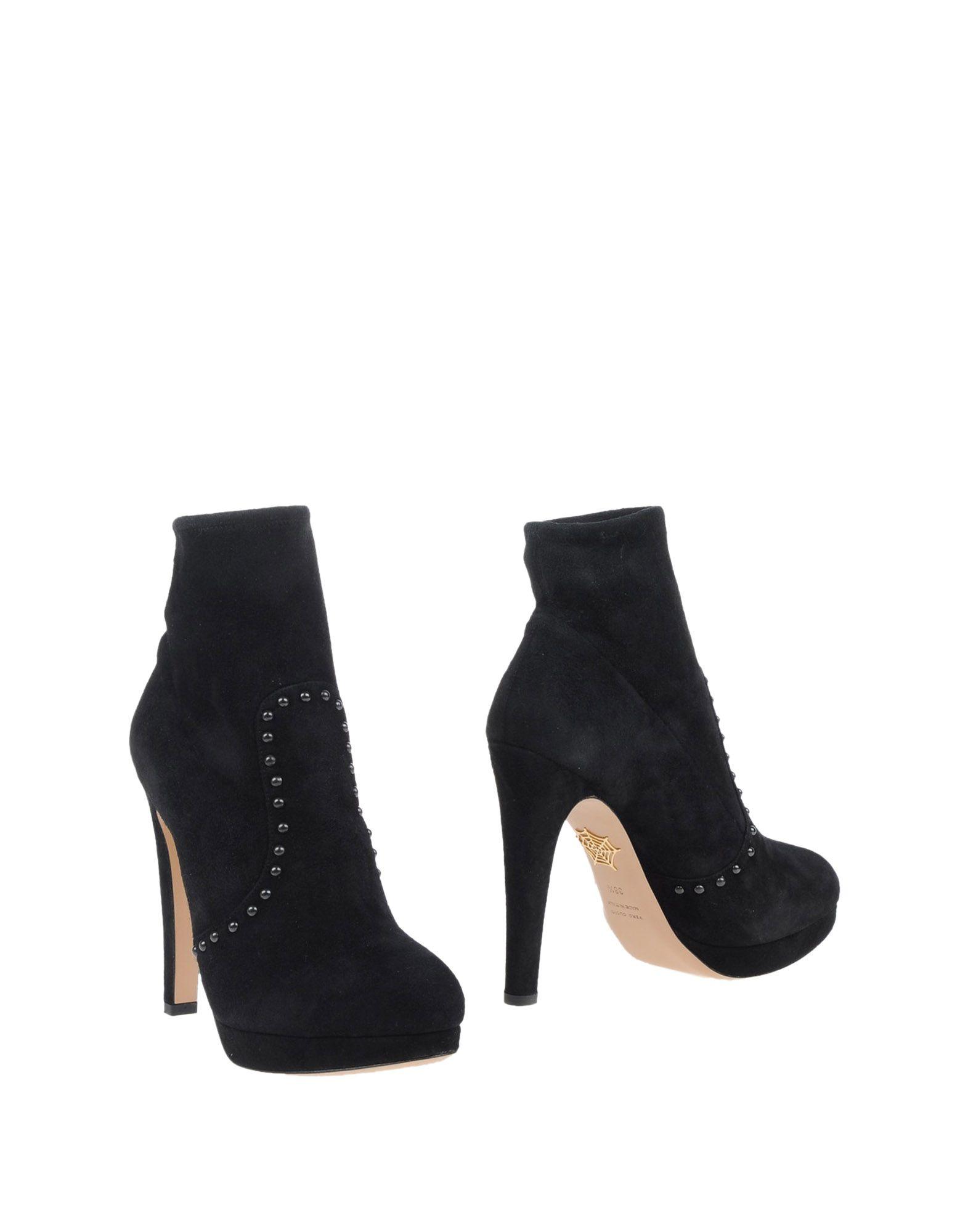 CHARLOTTE OLYMPIA Полусапоги и высокие ботинки charlotte olympia эспадрильи из кожи и льна mischievous flats