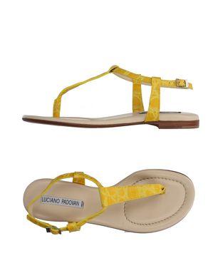 Guteborn Angebote LUCIANO PADOVAN Damen Zehentrenner Farbe Gelb Größe 9