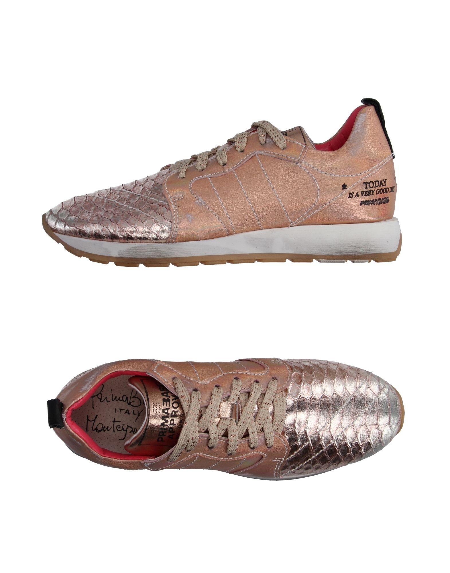 《送料無料》PRIMABASE レディース スニーカー&テニスシューズ(ローカット) ピンク 40 革