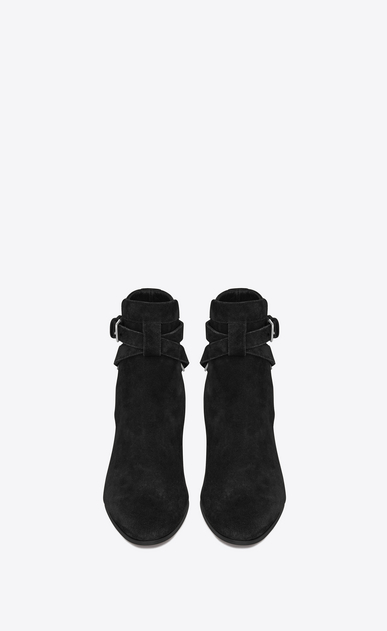 SAINT LAURENT Flat Booties D Signature BLAKE 40 Jodhpur Boot in Black Suede b_V4
