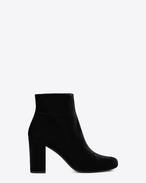 SAINT LAURENT Babies D BABIES 90 Ankle Boot in Black Velour f