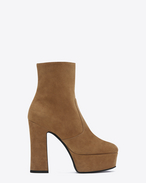 SAINT LAURENT Candy D CANDY 80 Boot in Tan Suede f