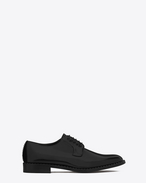 SAINT LAURENT Flat Booties D DYLAN 20 Studded Derby in Black Leather f