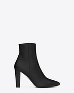 SAINT LAURENT Lily D LILY 95 Ankle Boot in Black Leather f