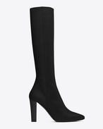 SAINT LAURENT Lily D LILY 95 Tall Boot in Black Leather f