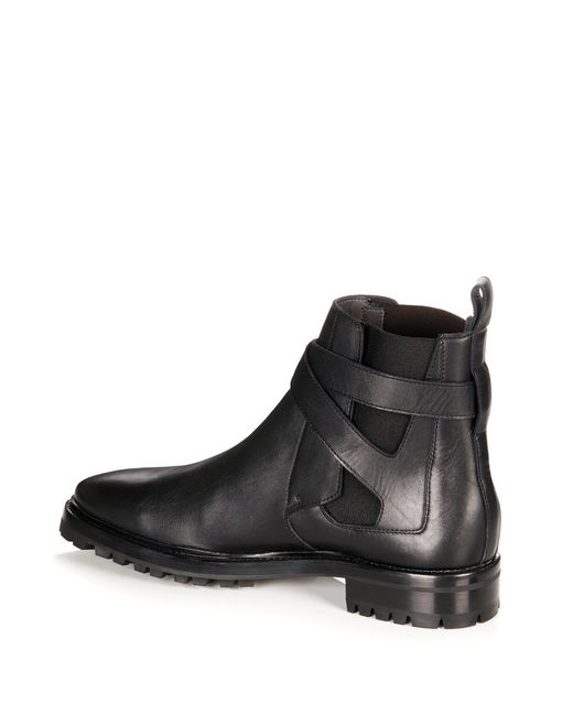 lanvin smooth calfskin chelsea boot men