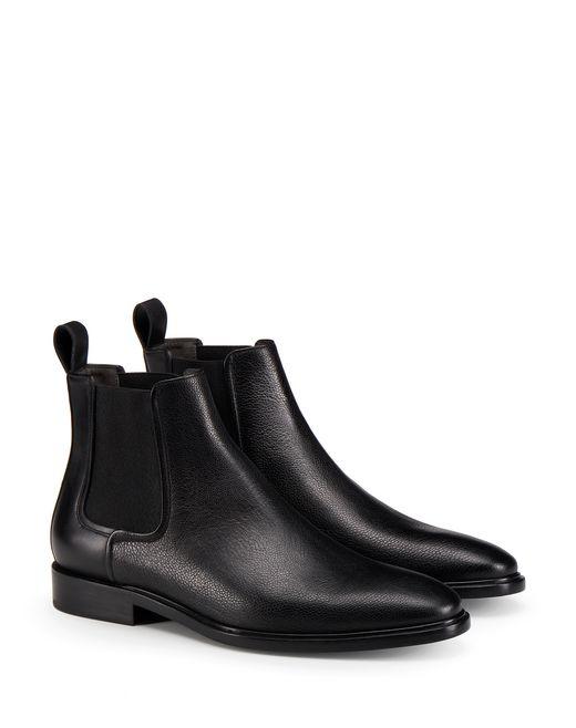 lanvin dual material chelsea boot men