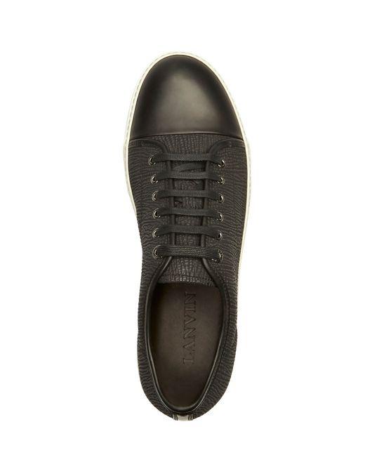 lanvin dbb1 textured calfskin sneaker men