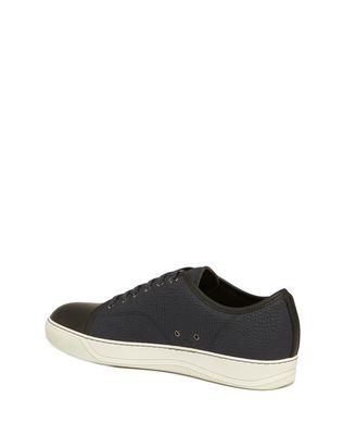 LANVIN DBB1 TEXTURED CALFSKIN SNEAKER Sneakers U d
