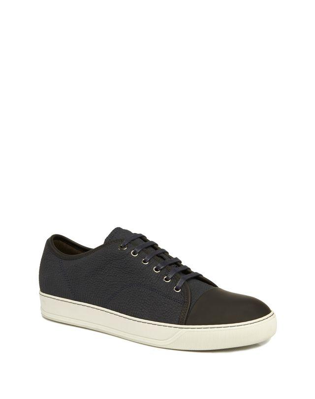 LANVIN DBB1 TEXTURED CALFSKIN SNEAKER Sneakers U f