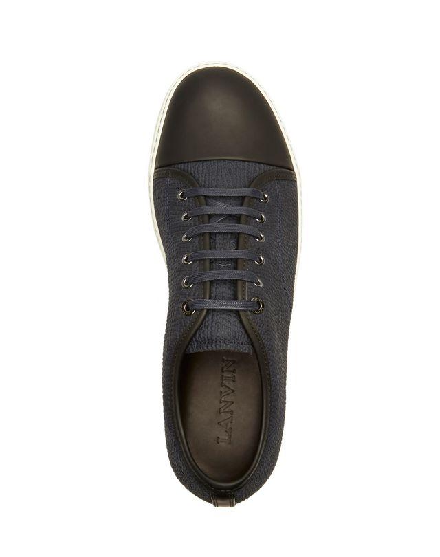 LANVIN DBB1 TEXTURED CALFSKIN SNEAKER Sneakers U r