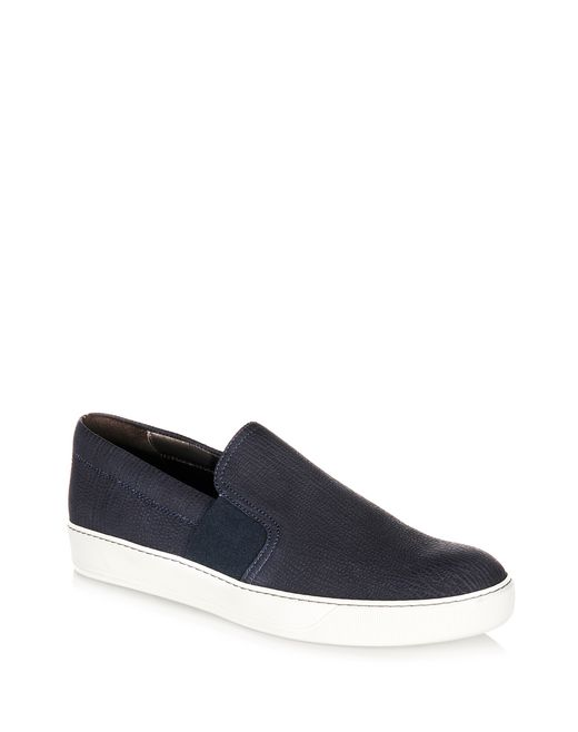 Lanvin Men's Textured Leather Slip-On Sneakers