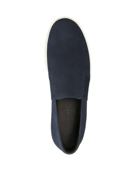 lanvin textured slip-on sneaker men