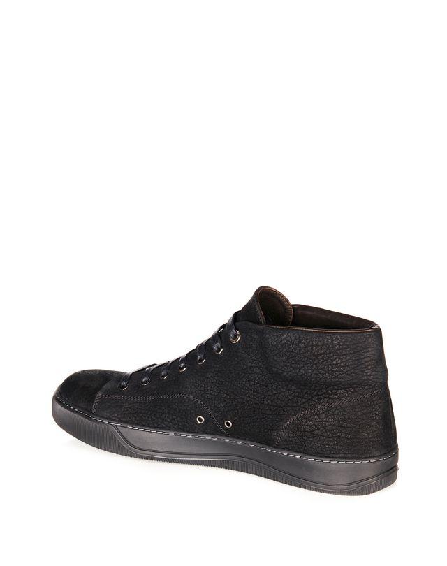 LANVIN NUBUCK CALFSKIN MID-TOP SNEAKER Sneakers U d