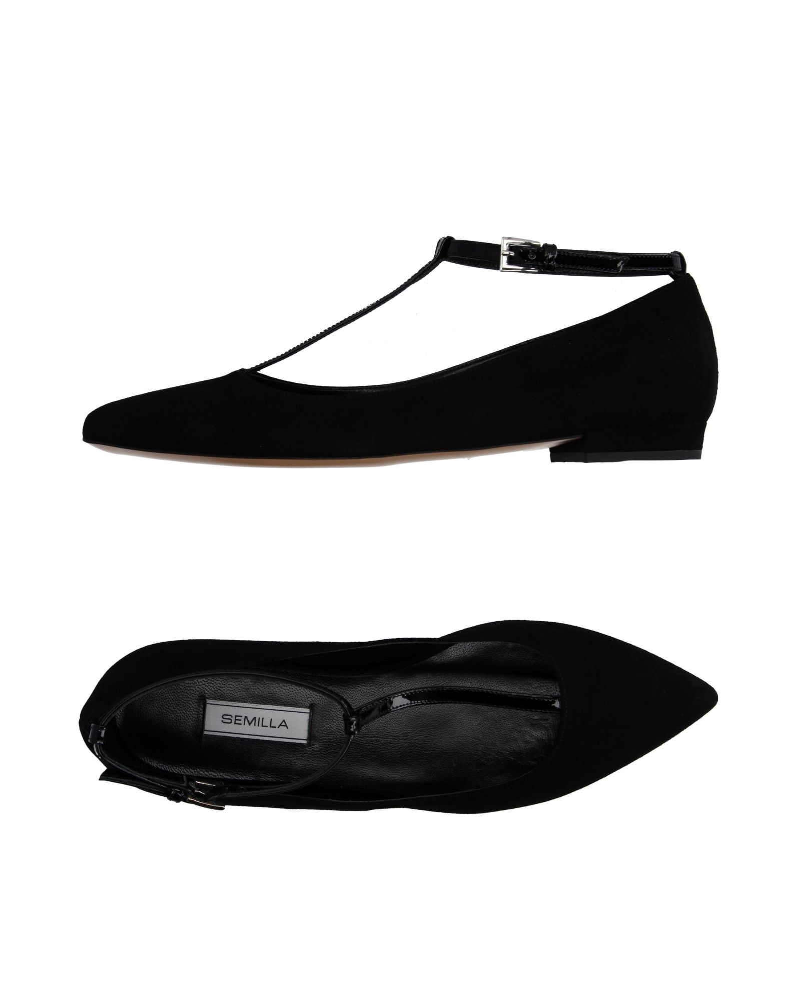 SEMILLA Ballet Flats in Black