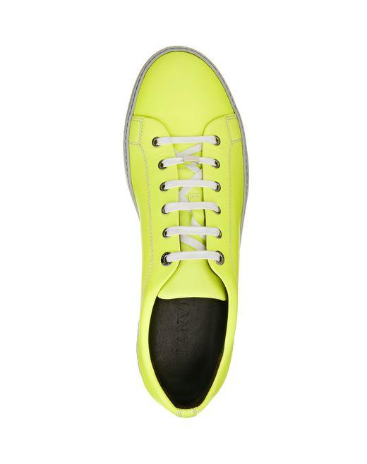 lanvin soft calfskin sneaker men
