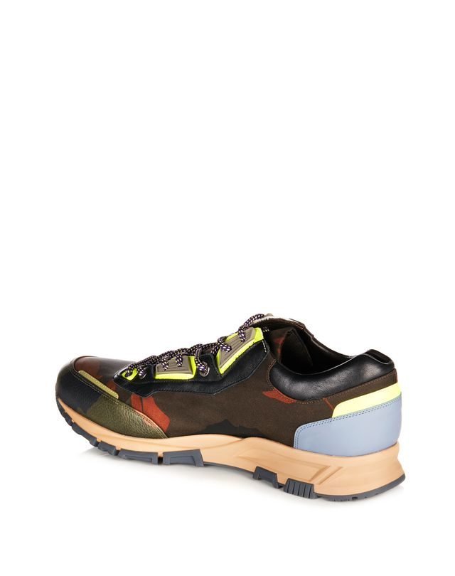 LANVIN NYLON CROSS-TRAINER Sneakers U r