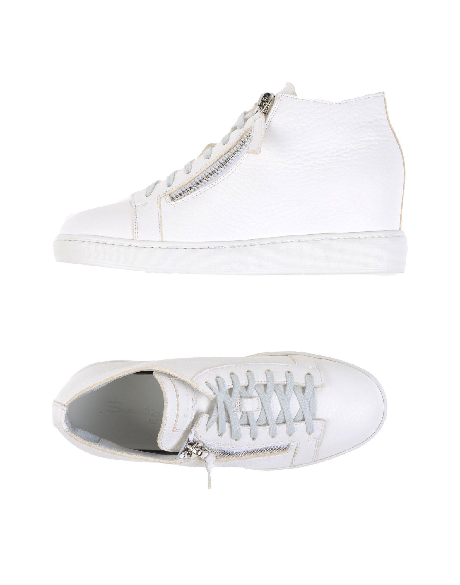 SANTONI Высокие кеды и кроссовки кеды кроссовки высокие женские dc evan txse blue brown white