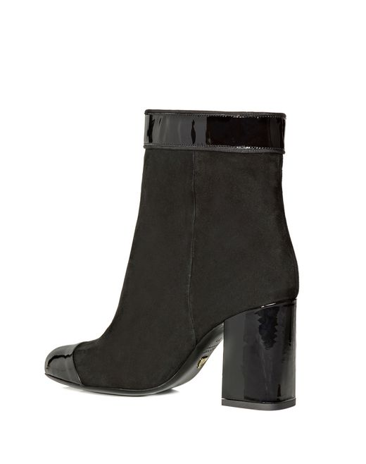 lanvin two leather high heel ankle boot women