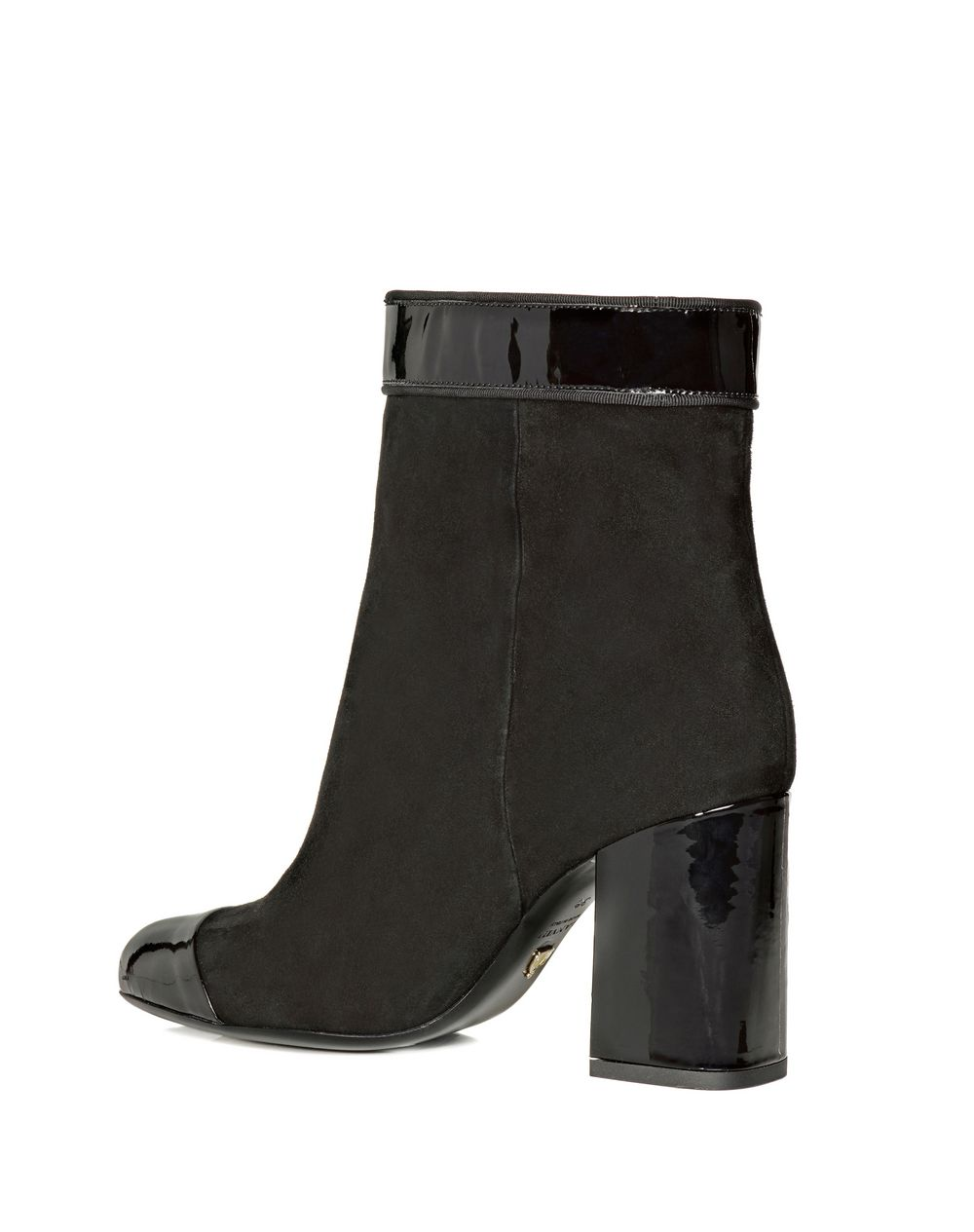 TWO LEATHER HIGH HEEL ANKLE BOOT - Lanvin