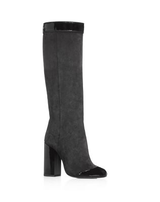 TWO LEATHER HIGH HEEL BOOT