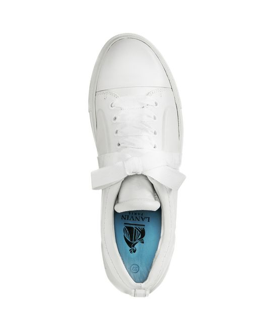 lanvin low white embossed sneaker  women
