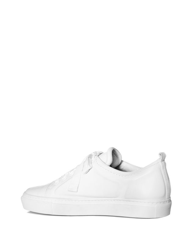 LANVIN LOW WHITE EMBOSSED SNEAKER Sneakers D d