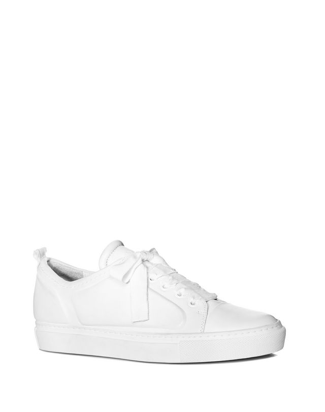 LANVIN LOW WHITE EMBOSSED SNEAKER Sneakers D f