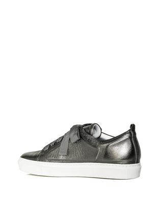 LANVIN LOW GUNMETAL EMBOSSED SNEAKER Sneakers D d