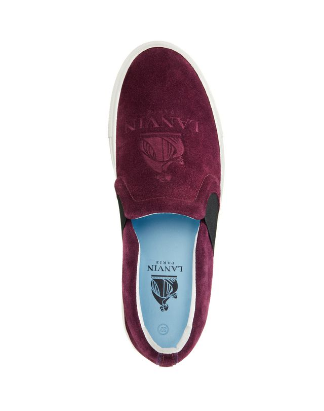 LANVIN SLIP-ON SNEAKER WITH EMBOSSED LOGO Sneakers D d