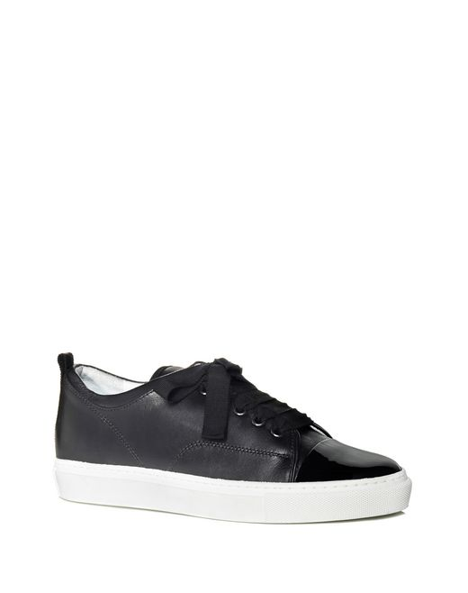 lanvin low black two leather sneaker women