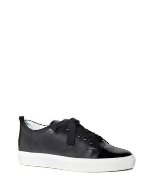 LANVIN LOW BLACK TWO LEATHER SNEAKER Sneakers D f