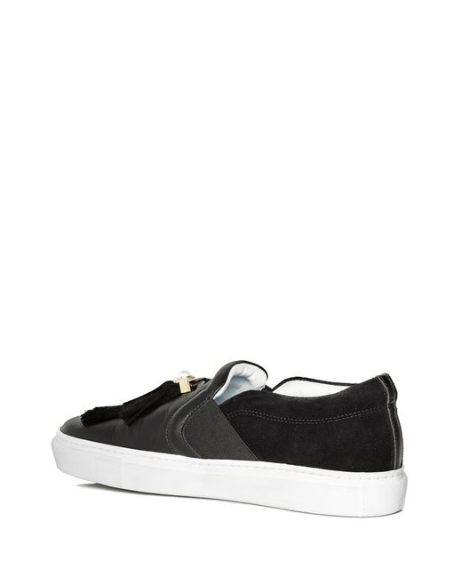 lanvin black slip-on with tassels women