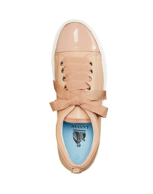 lanvin low powder two leather sneaker women