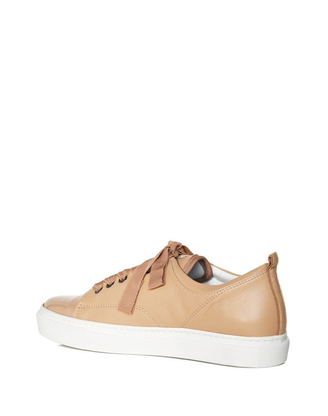 LANVIN LOW POWDER TWO LEATHER SNEAKER Sneakers D d