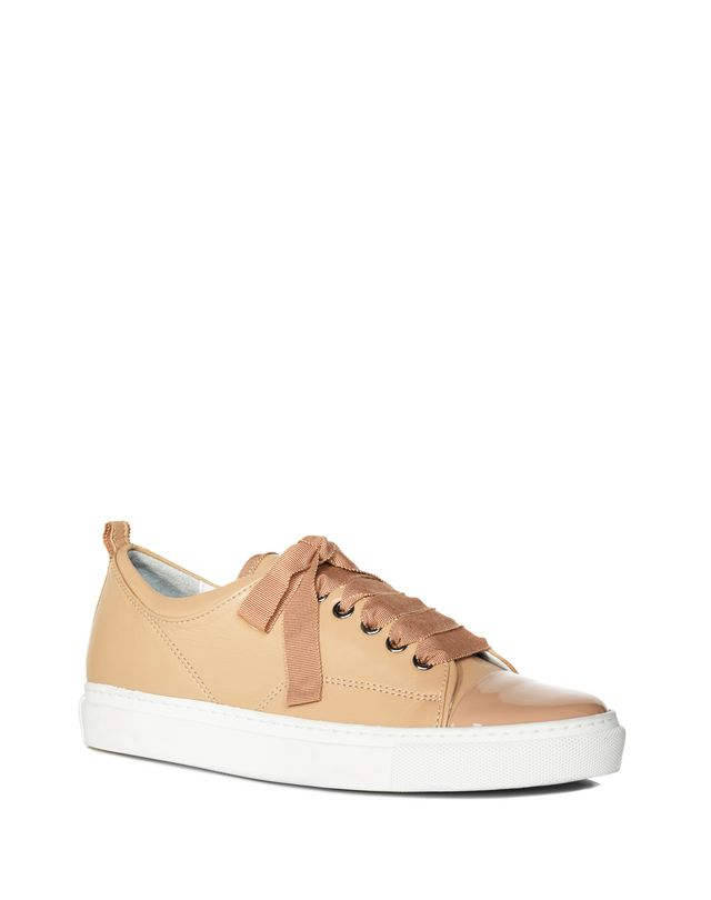 LANVIN LOW POWDER TWO LEATHER SNEAKER Sneakers D f