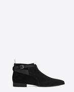 SAINT LAURENT Boots U Signature LONDON 20 Jodhpur Cropped Boot in Black Suede f